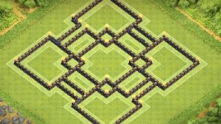 Clash of Clans   TownHall 9 Defense BEST Farming Base Layout