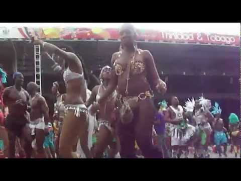 Machel Montano performing on top of the truck in Trinidad Carnival 2012