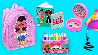 5 Minute Diy   Miniature LOL Surprise School Supplies