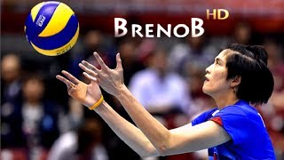 TOP 10 Best Actions by Pleumjit Thinkaow  Volleyball Middle Blocker  BrenoB