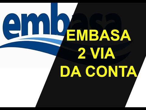 EMBASA 2 VIA DE CONTA COM CPF OU MATRÍCULA DO IMOVEL PARA PAGAMENTO