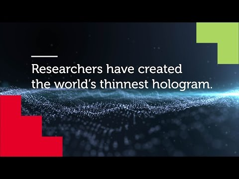World's Thinnest Hologram | RMIT University