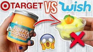 WISH SLIME VS TARGET SLIME! Which is Worth it?!? BEST STORE BOUGHT CLOUD SLIME!