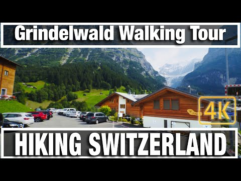 4K City Walks: Hiking Switzerland Grindelwald - Virtual Walk Walking Treadmill Video