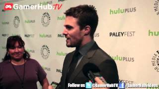 Actor Stephen Amell Talks CW Green Arrow And InJustice Gods Among Us