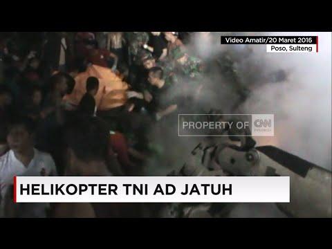 Detik-detik Evakuasi Korban Heli TNI-AD (Video Amatir)