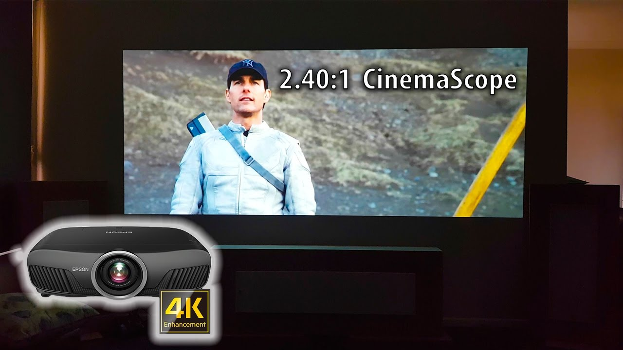 Epson 9300 6040ub 4K UHD Projector - Real world unboxing and testing in  cinemascope