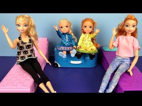 At The HOTEL ! Elsa And Anna Toddlers - Unpacking - Bedtime - Vacation Trip - Bath