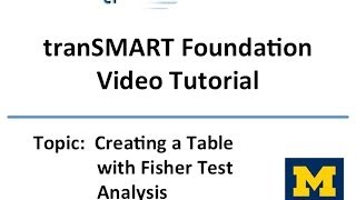TUTORIAL:  Table Fisher Test