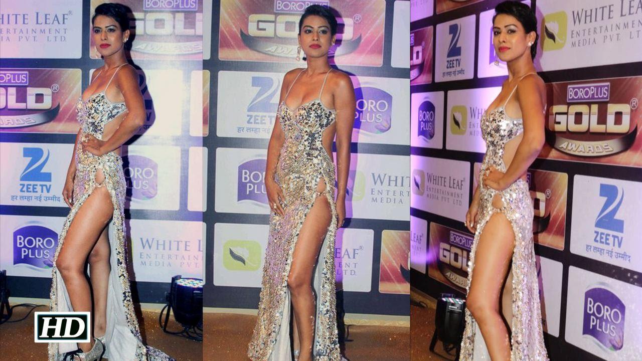 Actress Nia Sharma EXPOSES at Gold Award | Don't Miss - YouTube