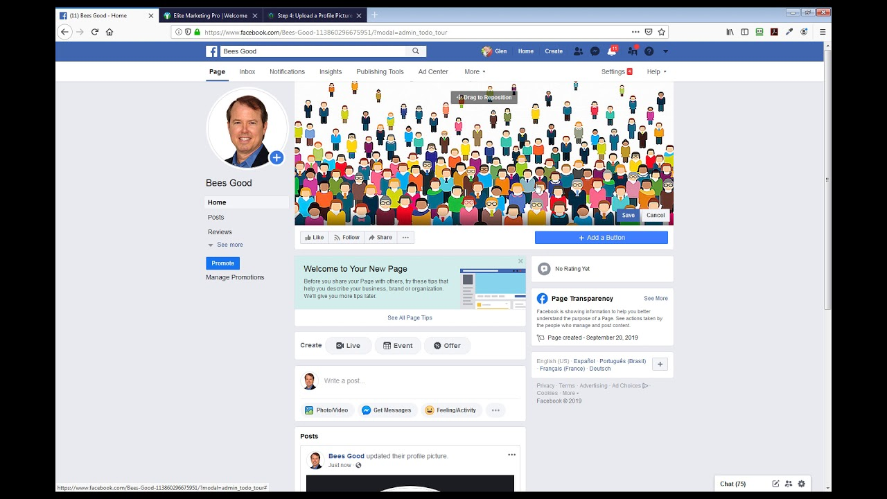 Add a Profile Picture and Cover Photo to Your Facebook Business Page in 60 Seconds