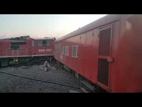 Train derails in Beitbridge Zimbabwe