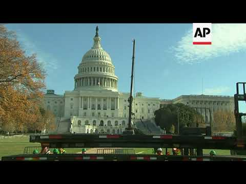 Capitol Hill's Christmas Tree Arrives