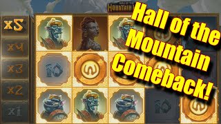 Hall of the Mountain Comeback! - £100 Group Gamble - Online Slots - Genesis Casino - The Reel Story