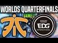 FNC Vs EDG Game 1 - Worlds 2018 Quarterfinals - Fnatic Vs Edward Gaming G1 Worlds 2018