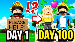 I Spent 100 DAYS in Roblox BROOKHAVEN RP!!  (I Fell In Love)