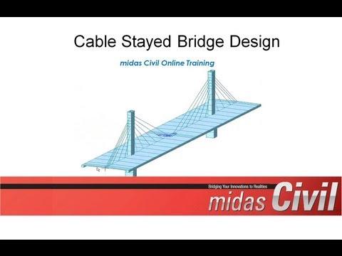 Cable Stayed Bridge Construction Stage Design - midas Civil Online Training