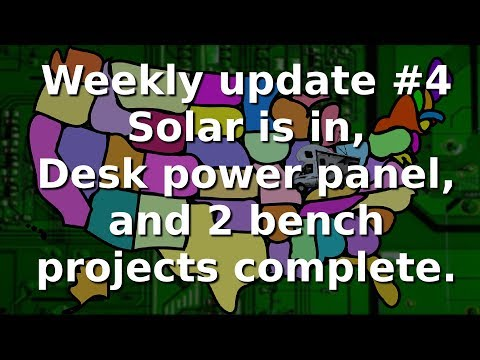 Ham Radio and RV - Weekly update number 4, The desk, solar, and a couple of bench projects