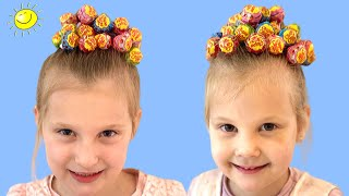 Zoja i Asja prave frizure od Chupa Chups