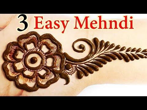 3 आसान तीज स्पेशल मेहँदी - आने वाले तीज, त्यौहार सरल और आसान मेहँदी लगाना सीखे, Teej Special Mehndi