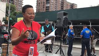 Judi reading at Harlem Book Fair 2018