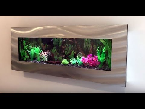 panoramic wall mounted aquarium fish tank tropical. Black Bedroom Furniture Sets. Home Design Ideas