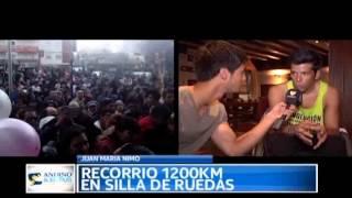 Andino y el País - Desafío solidario en silla de ruedas