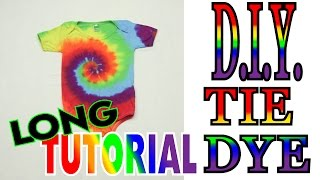 How to Tie Dye a Rainbow Spiral Onie [Long Tutorial] #65