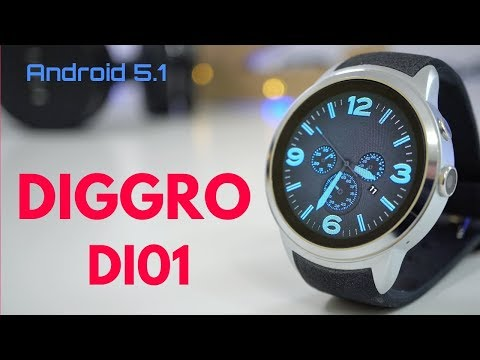 Diggro DI01 3G Android Smartwatch REVIEW - Amoled Screen