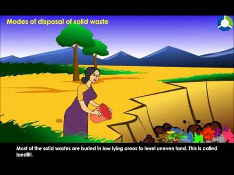MODES OF DISPOSAL OF SOLID WASTE