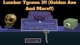ROBLOX Lumber Tycoon 3! (Machado de ouro e mais!!)