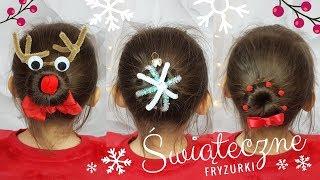 Urocze fryzury na Święta dla dzieci