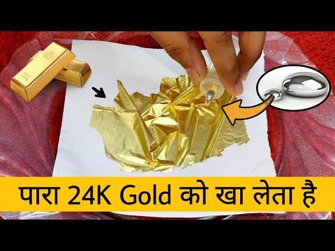 Mercury Is A Gold Eater !! Mercury Reaction With Pure Gold And Silver - Shocking Results