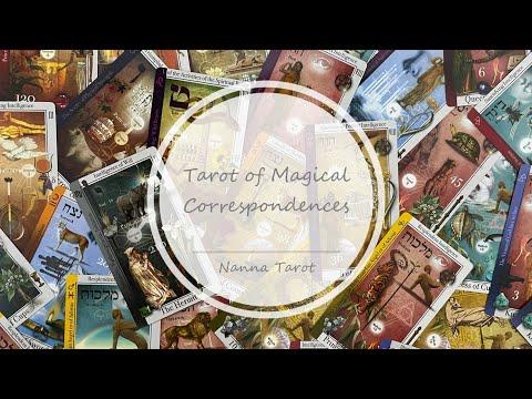 開箱  契合魔法塔羅牌 • Tarot of Magical Correspondences // Nanna Tarot