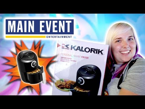 We won an AIR FRYER at Main Event arcade in Orlando!