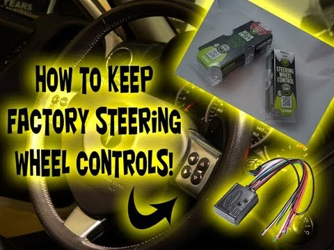 hqdefault how to factory steering wheel controls with aftermarket head  at mr168.co