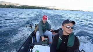 Repeat youtube video Nissan 9.8hp on 14ft Porta-Bote at Lake Chelan