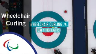 Day One Wheelchair Curling Highlights | PyeongChang 2018