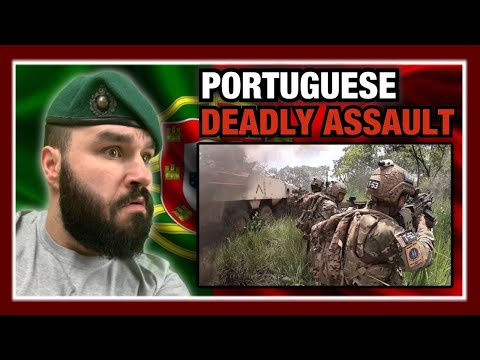 Portuguese Paratroopers In Close Combat During Assault On Re