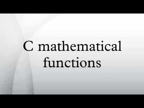 C mathematical functions