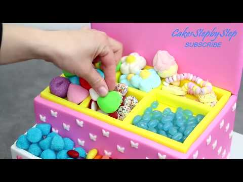 PRINCESS Candy Box Cake   Sweet Birthday Cakes Ideas   DIY Candy Party Decoration