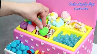 PRINCESS Candy Box Cake | Sweet Birthday Cakes Ideas | DIY Candy Party Decoration