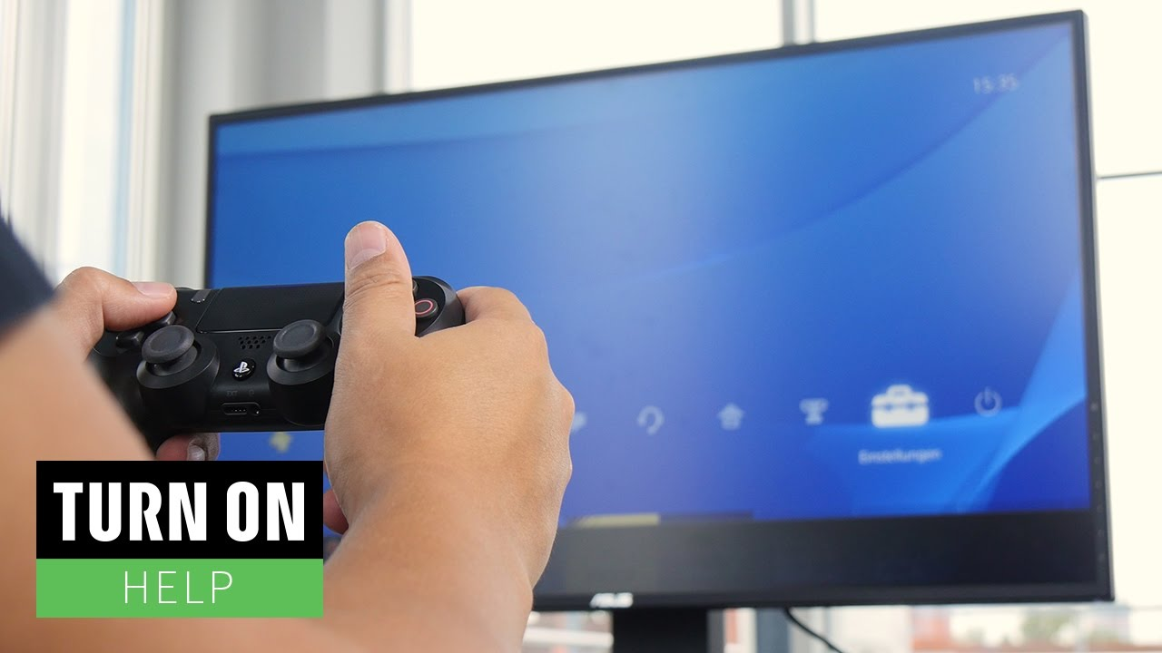 how to turn on ps4