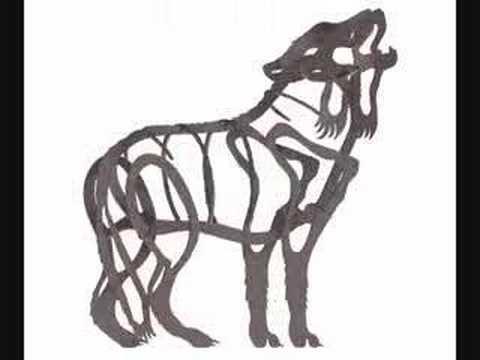 Gray Wolf Art │ Garden Statue │ Outdoor Metal Sculpture