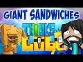 BIGGEST SANDWICH EVER!! | Think's Lab Minecraft Mods [Minecraft Roleplay]