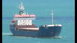 Multipurpose ship EMONA Floating at Sea In Istanbul
