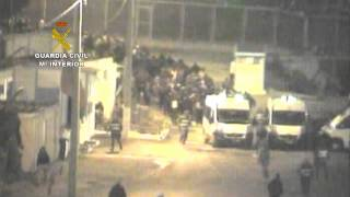 Vídeo editado por la Guardia Civil del intento de entrada de inmigrantes en Ceuta