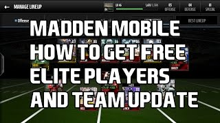 How to get FREE ELITE Players on Madden Mobile NO HACKS!