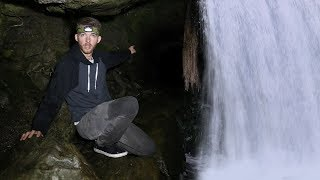 Exploring Secret Cave Hidden Behind a Waterfall!!  (FOREST SURVIVAL CHALLENGE) thumbnail