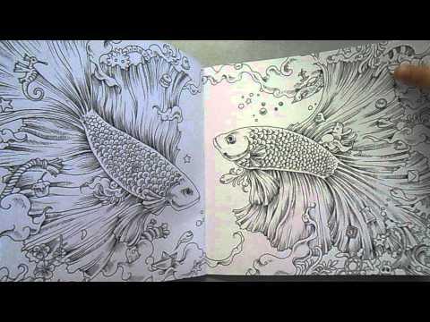 [Animorphia coloring book review] Review sách tô màu Animorphia - Thế giới hoang dã